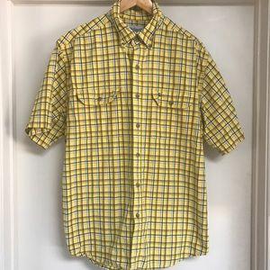 Yellow Plaid Carhartt button down shirt